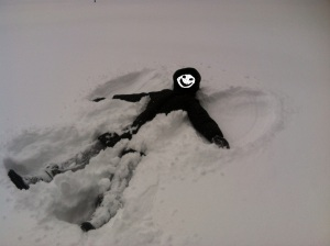 Faceless snow angels!
